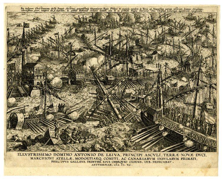 Bataille de Lepante - Gravure - Philippe Gall et Collaert - British Museum